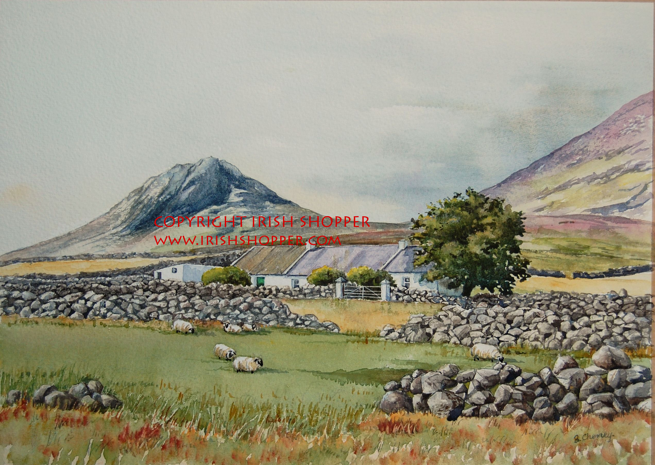 Farm at Wee Binian Mountain - A4 Print