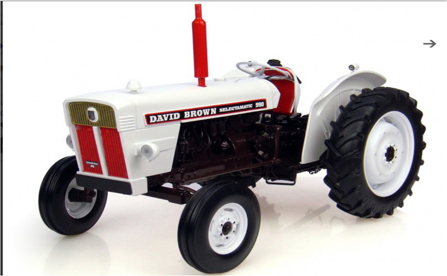 The David Brown White Selectomatic 990 Vintage Tractor
