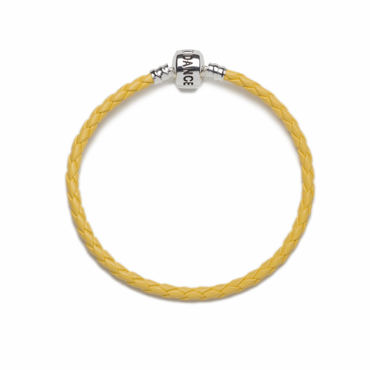 Official Riverdance20 Yellow Leather Style Charm Bracelet