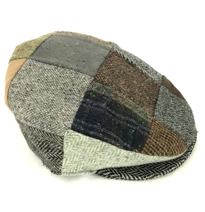 Irish Vintage Patchwork Tweed Flat Cap