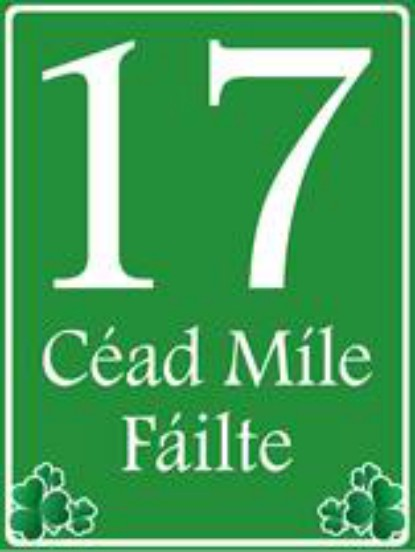 Cead Mile Failte House Number Sign - Personalised
