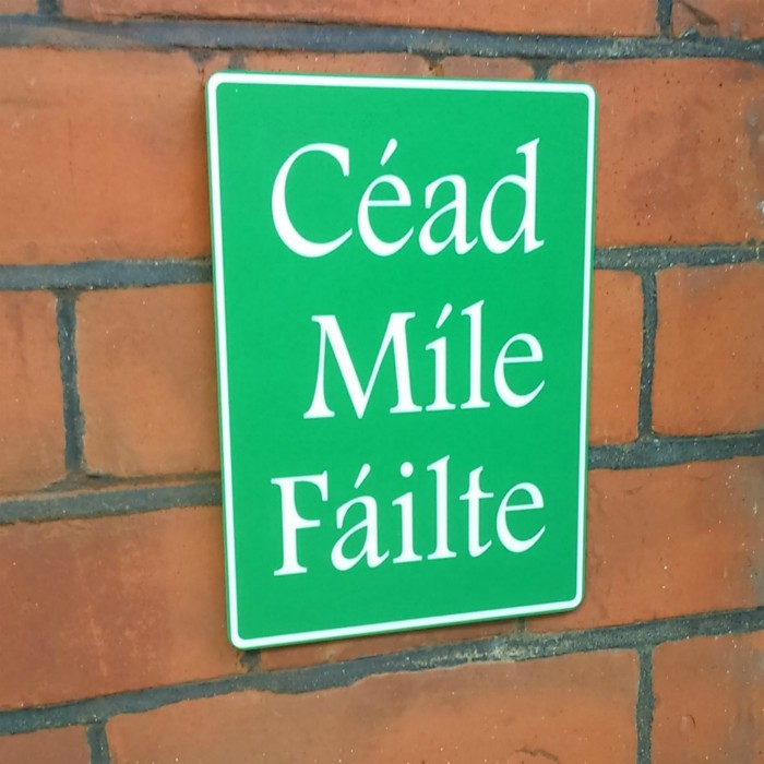 Cead Mile Failte House Sign