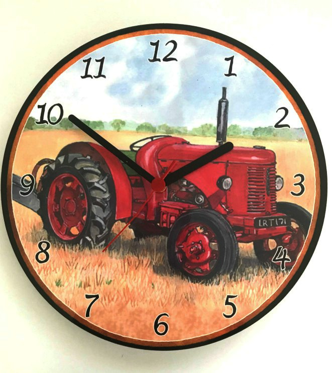 David Brown Tractor Battery Wall Clock