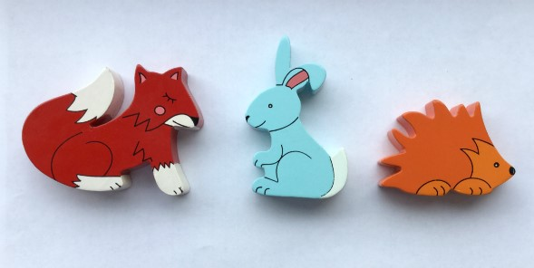 Fox, Rabbit and Hedgehog Magnets - Set of 3