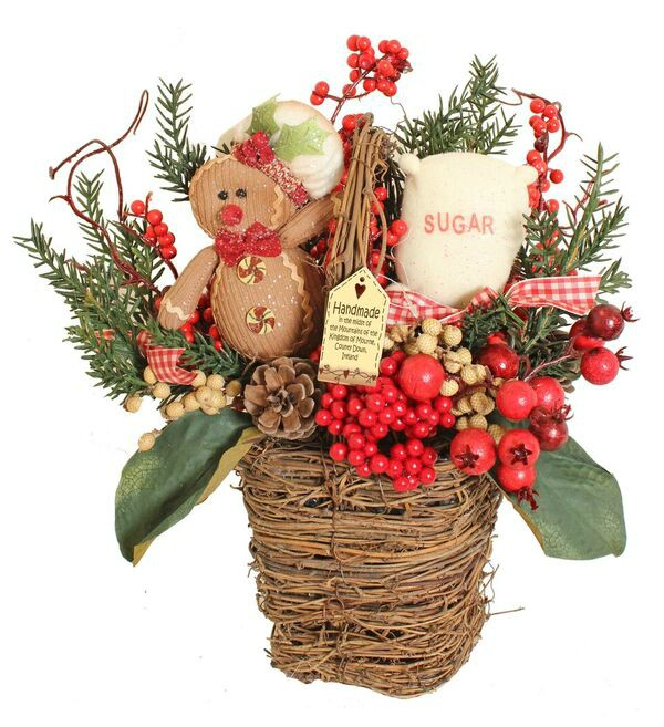 Gingerbread Medium Basket