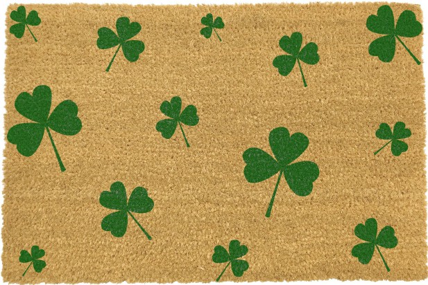 Green Shamrock Irish Doormat