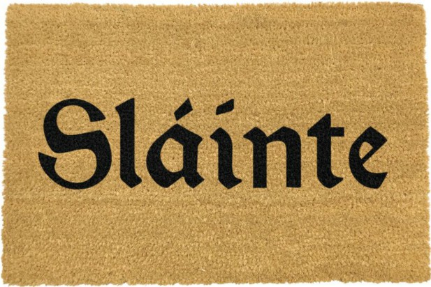 Irish Slainte Doormat - Black