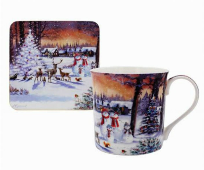 The Magic of Christmas Fine China Mug and Coaster Set