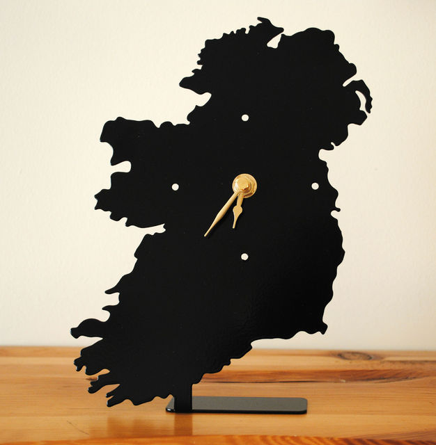Map of Ireland Battery Operated Metal Clock