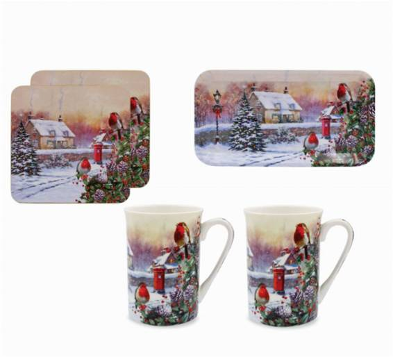 Christmas Robins 5-Piece Gift Set