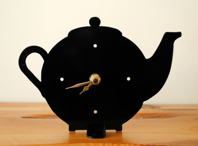 Teapot Battery Operated Metal Clock