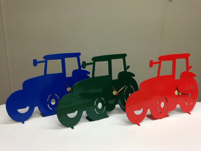 Tractor Battery Operated Metal Clock