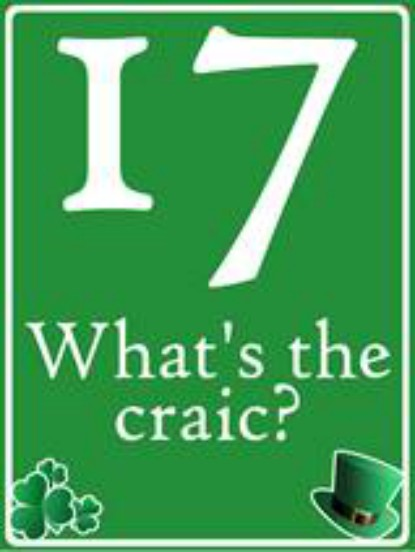 What's The Craic Shamrock House Number Sign - Personalised