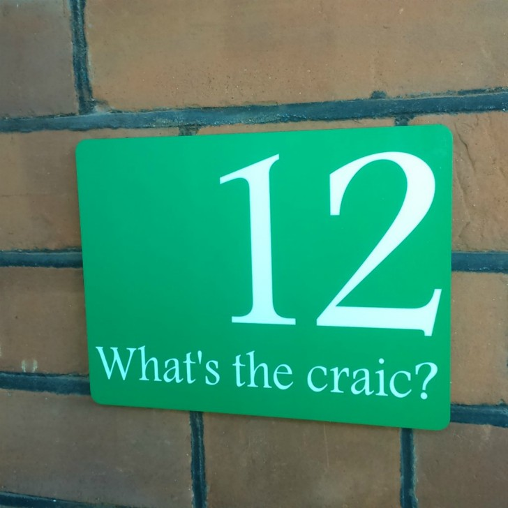 What's The Craic House Number Sign - Personalised