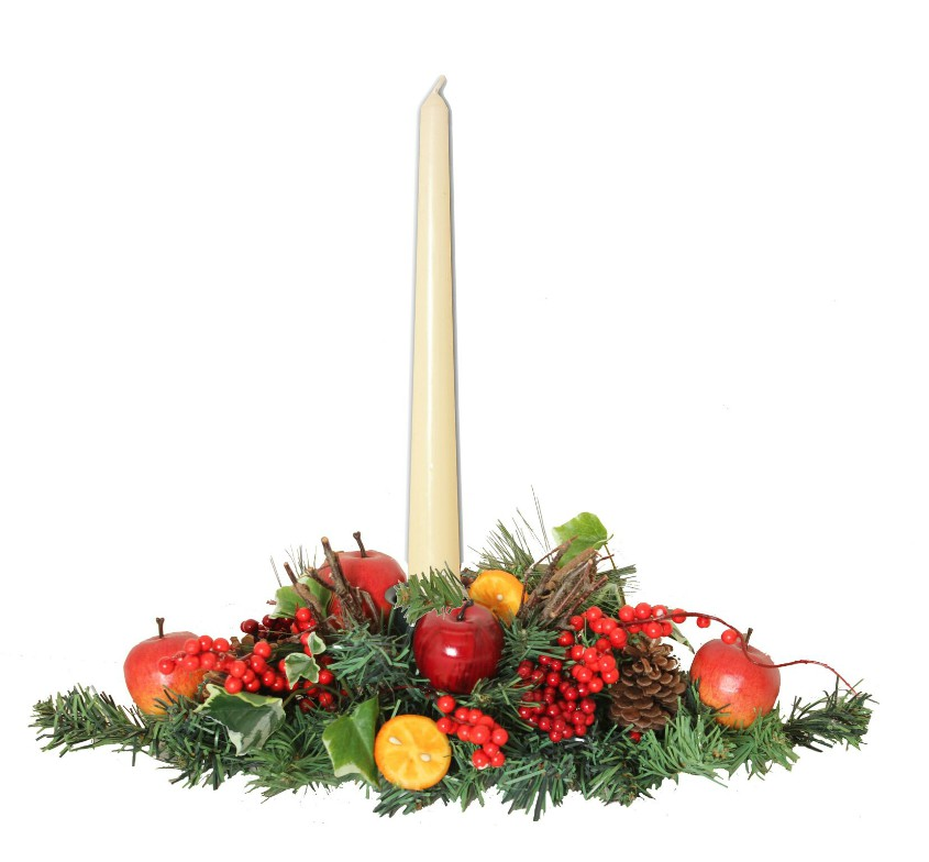 Winter Orchard Small Candle Arrangement