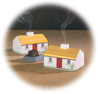 Irish Turf Peat Ceramic Cottages