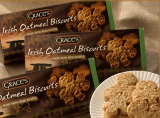 Grace's Irish Shamrock Shaped Oatmeal Biscuits 135g - 1 pack