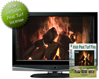 An Exclusive Irish Peat Turf Burning Fire DVD